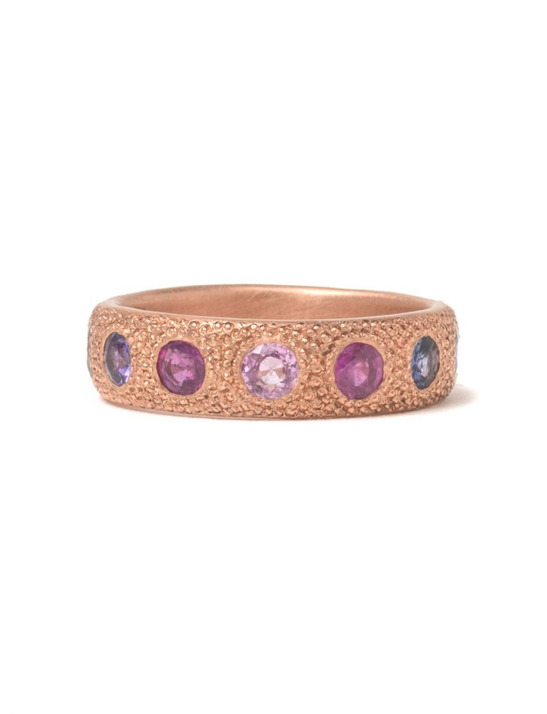 Large Multicolour Eternal Love Ring – Rose Gold