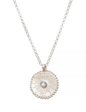 Silver Star Necklace - White Sapphire
