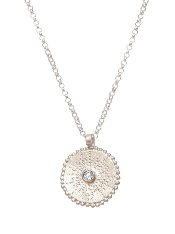Silver Star Necklace – White Sapphire