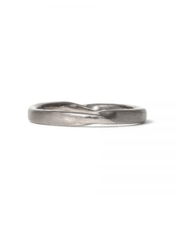 Soft Twist Ring - White Gold
