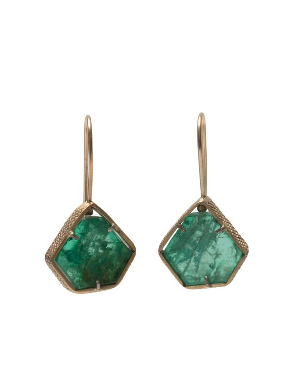 Textura Emerald Earrings