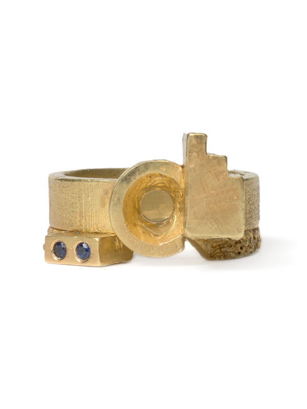 Offcut Fourteen Ring – Sapphires