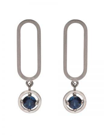 Open Earrings - Sapphires