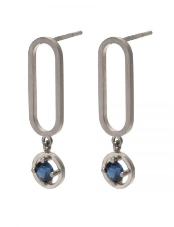 Open Earrings – Sapphires