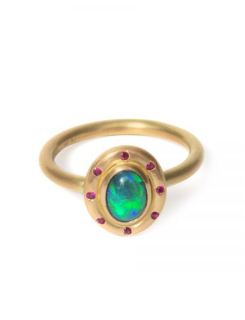 Orbit Ring - Black Opal & Rubies