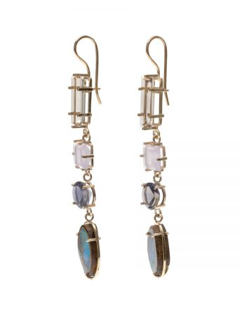 Portal Earrings - Yowah Nut Opals