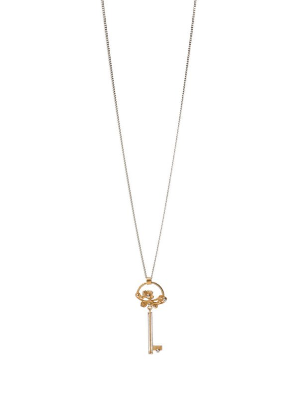 Winter Garland Key Pendant Necklace – Diamonds