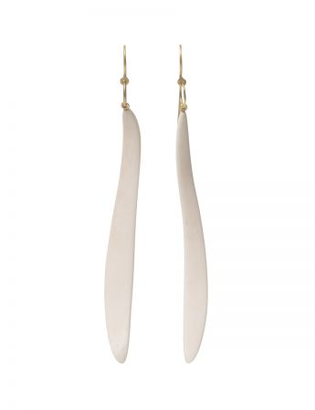 Curvature Bone Pendant Earrings - Gold