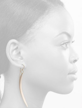 Curvature Bone Pendant Earrings – Gold