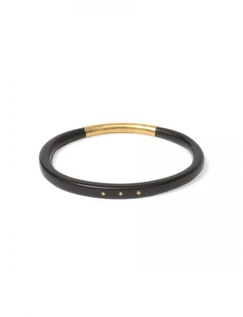 Dreamcatcher Bangle - Gold Rivets