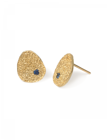 Droplet Stud Earrings – Sapphire