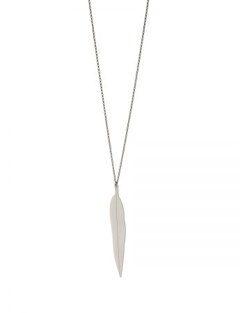Large Eucalypt Pendant Necklace – White