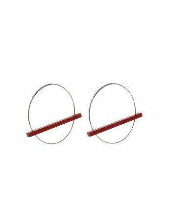 Line Earrings - Red