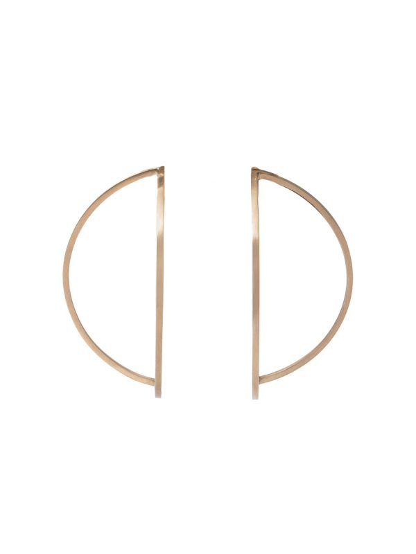 Outlines Earrings – Large Gold