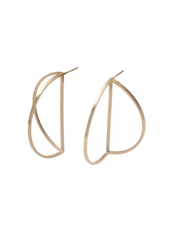 Outlines Earrings - Large Gold