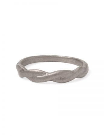 Plait Ring - White Gold