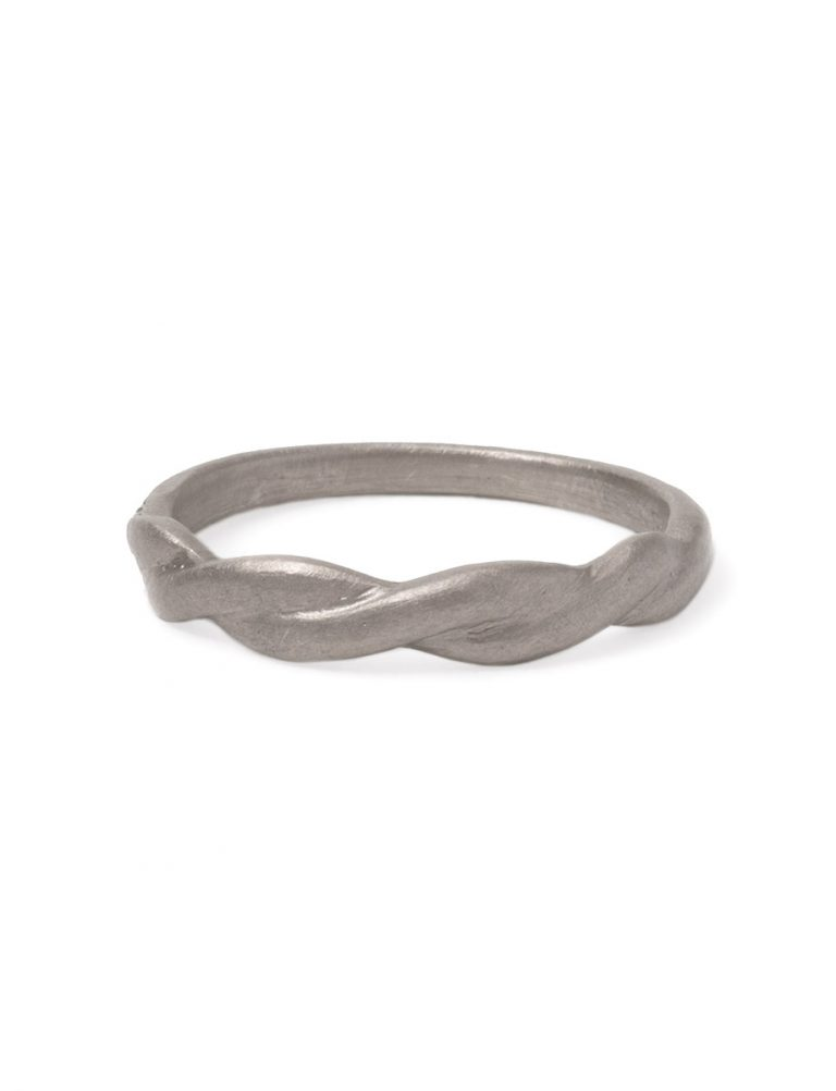Plait Ring – White Gold