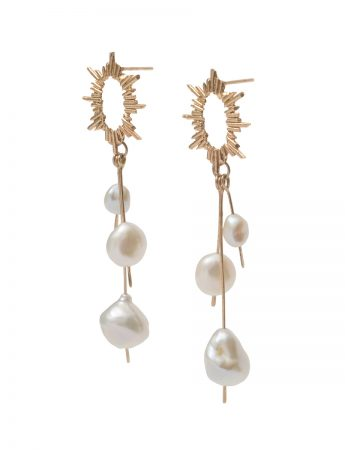 Long Santa Lucía Earrings - Keshi Pearls