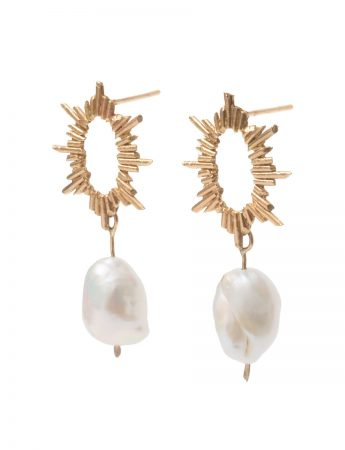 Short Santa Lucía Earrings - Keshi Pearls