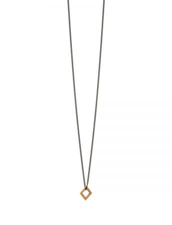 Square Tab Necklace – Gold
