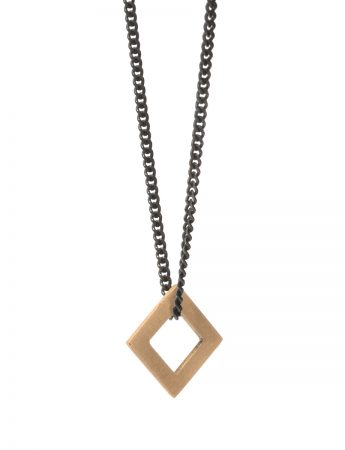 Square Tab Necklace - Gold