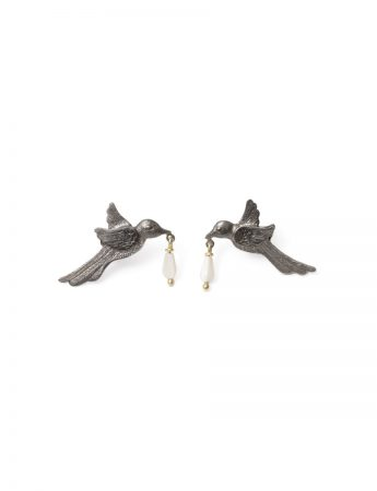 The Mother Heard Your Thirsty Spirit Earrings - Black