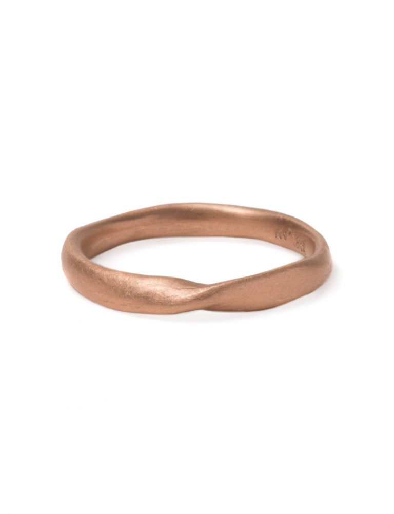 Twist Ring – Rose Gold