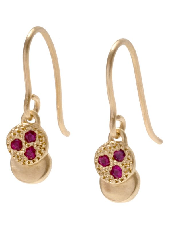 Beloved Assemblage Two Stack Hook Earrings – Rubies