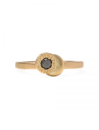 Beloved Assemblage Two Stack Ring - Black Diamond
