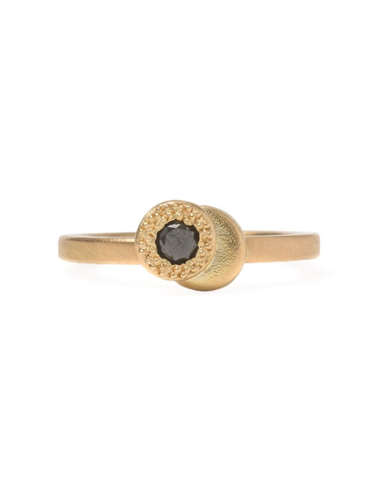 Beloved Assemblage Two Stack Ring – Black Diamond