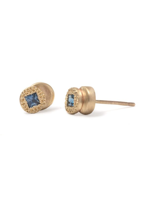 Beloved Assemblage Two Stack Stud Earrings – Blue Sapphires