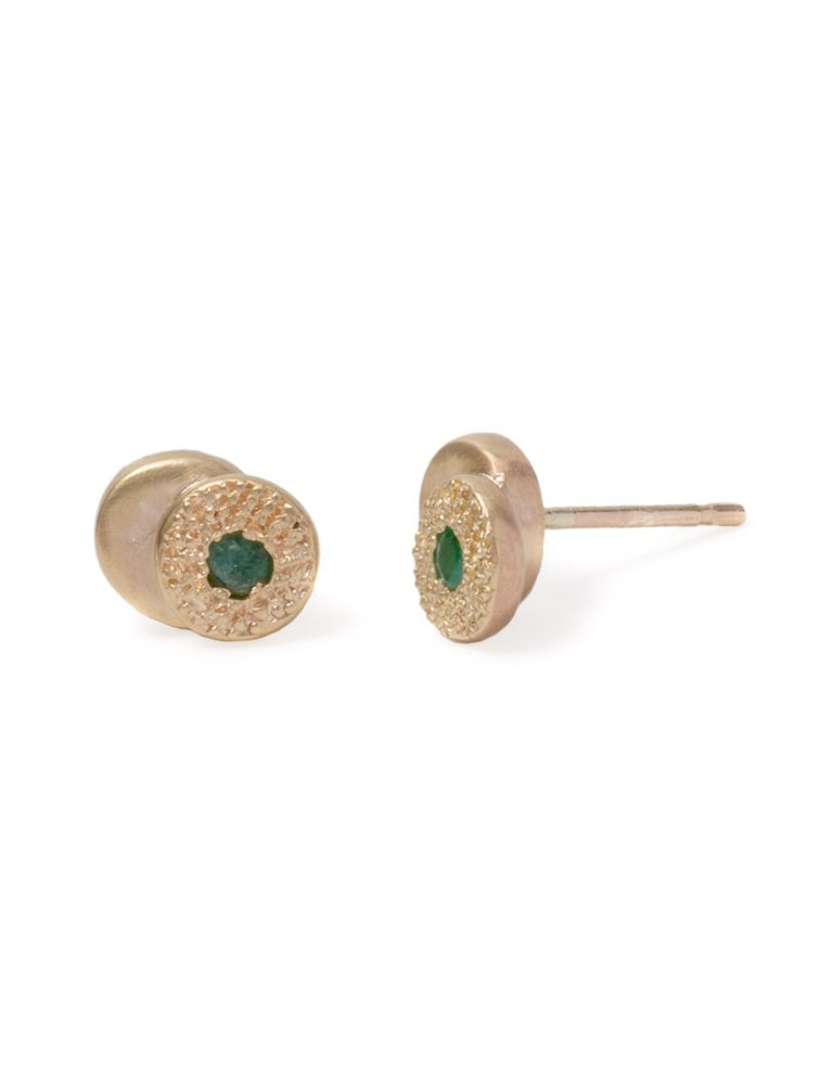 Beloved Assemblage Two Stack Stud Earrings – Emeralds