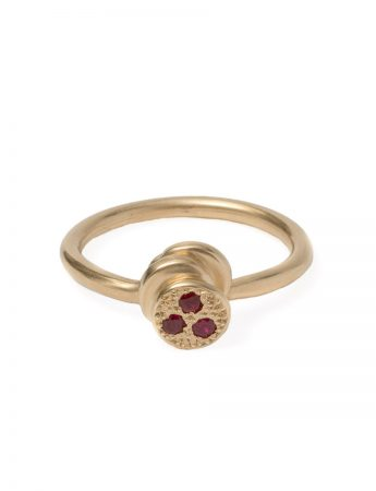 Beloved Assemblage Four Stacked Disc Ring - Rubies