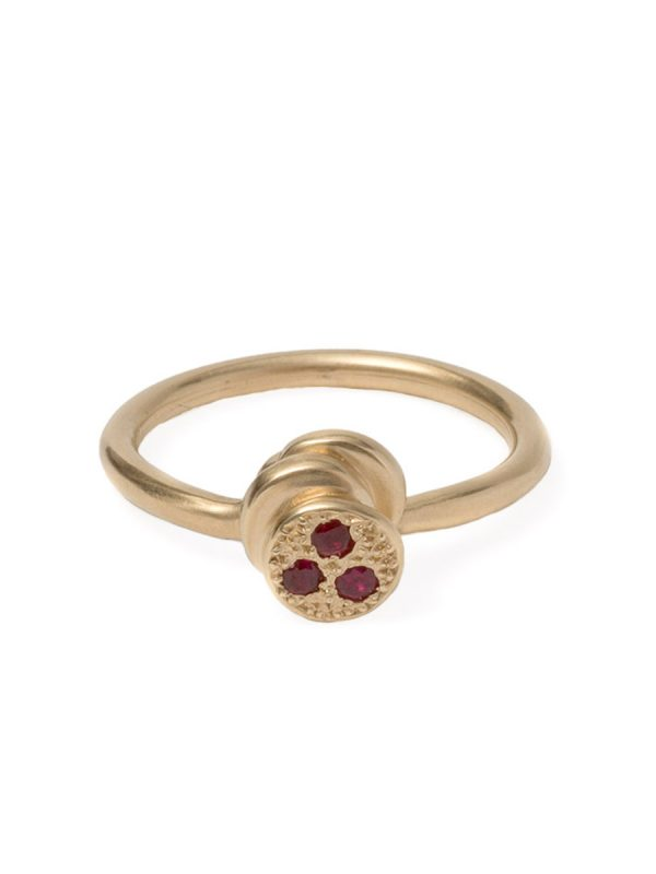 Beloved Assemblage Four Stacked Disc Ring – Rubies