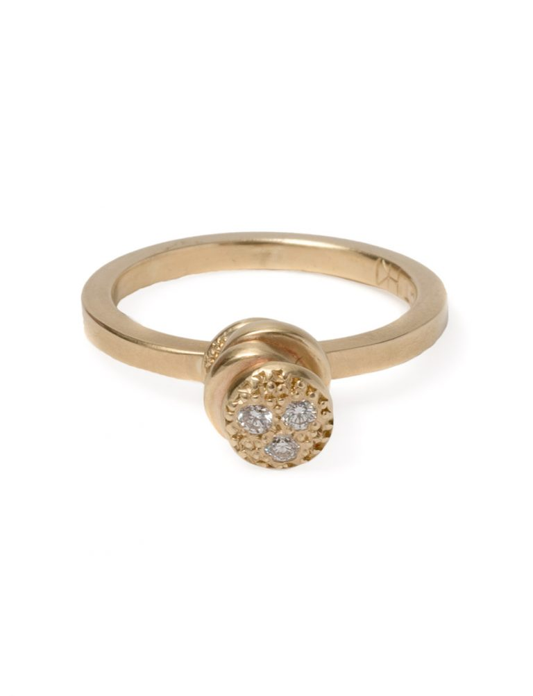 Beloved Assemblage Four Stack Ring – Diamonds