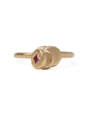 Beloved Assemblage Four Stack Leaning Ring - Ruby