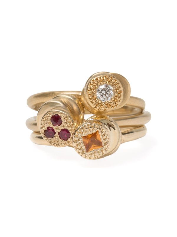 Beloved Assemblage Four Stack Ring – Yellow Sapphire