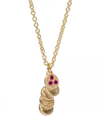 Beloved Assemblage Pendant Necklace - Gold & Rubies