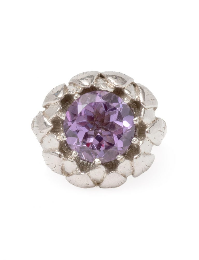 Artichoke Ring – Silver and Amethyst