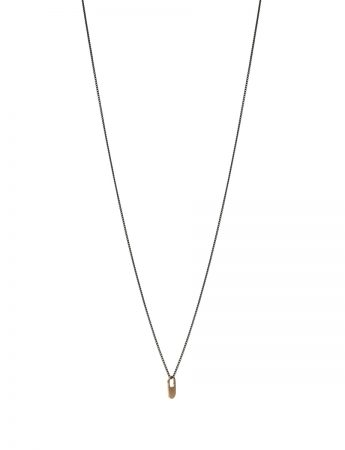 Bus Stop Necklace - Gold & Black