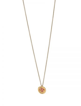 Daughter's Posy Pendant Necklace - Sapphire & Diamond