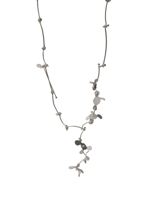 Small Botanical Necklace – Silver