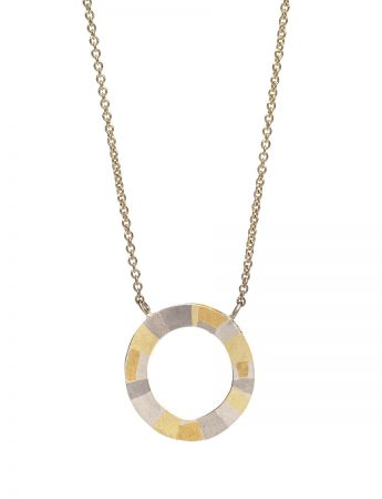 Infinite Terrain Necklace – White & Yellow Gold