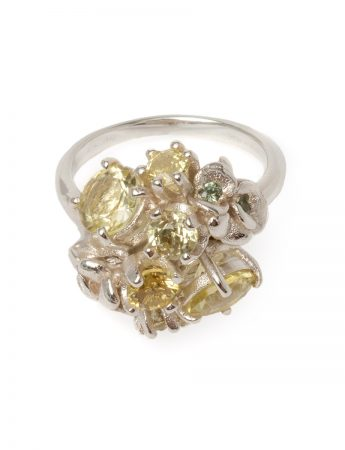 Lemon Giardinetti Ring - Quartz and Sapphire