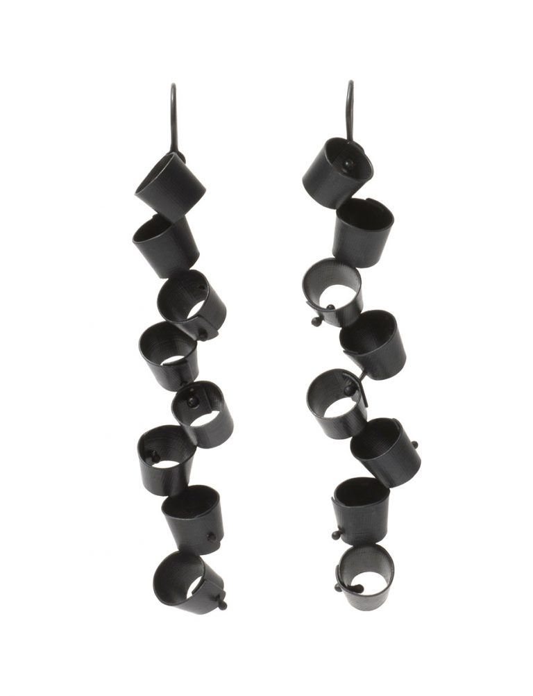 Long Foxglove Earrings – Black