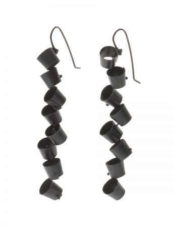 Long Foxglove Earrings - Black