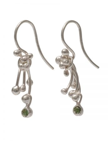 Silver Posy Etamines Earrings - Tourmaline