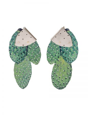 Prickly Pair Earrings - Spring Green