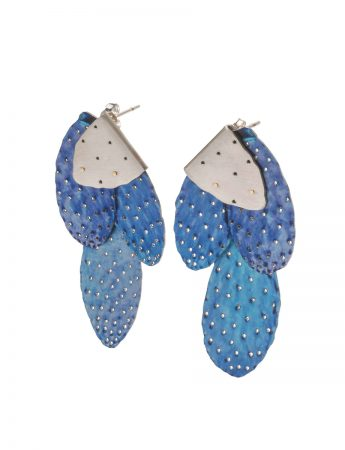 Prickly Pair Earrings - Wildflower Blue