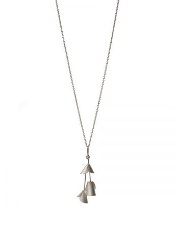 Jungle Cactus Pendant Necklace - Silver
